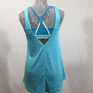 Champion women's athletic top size Small Blue